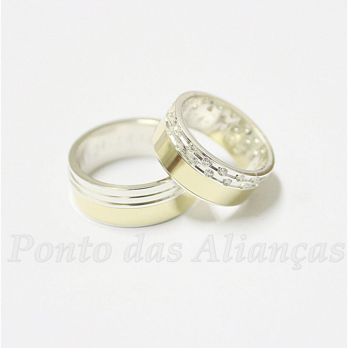 Alianças de Ouro Casamento ou Noivado - 537