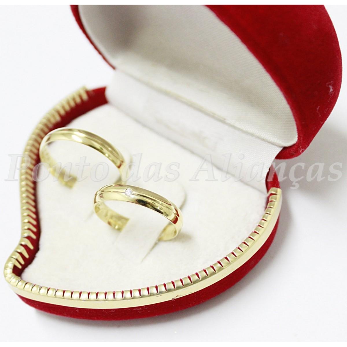 Alianças de Ouro Casamento ou Noivado -  539
