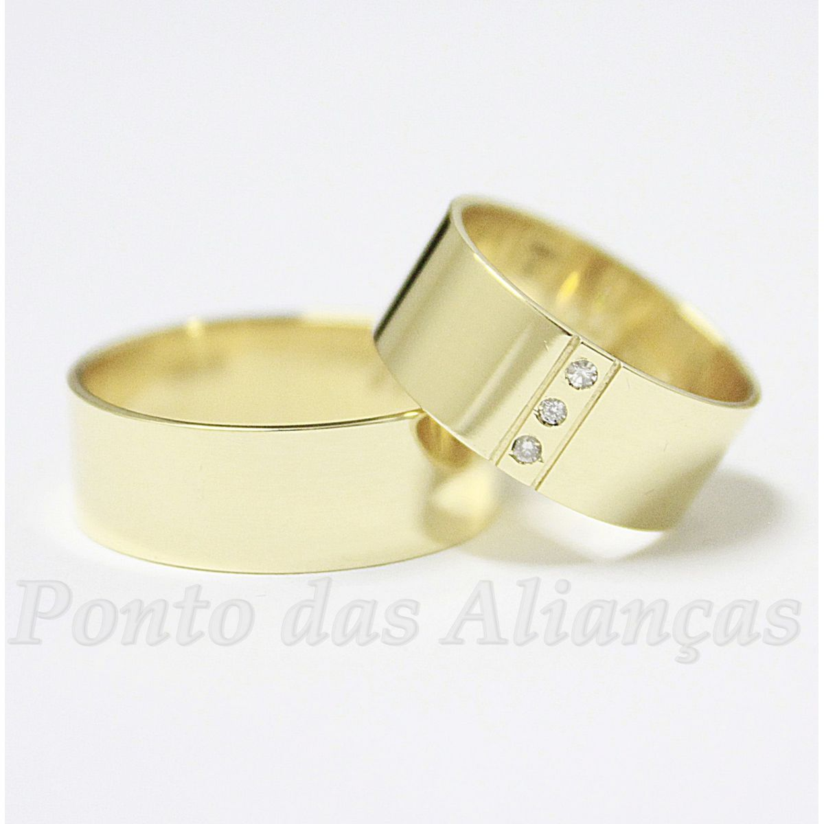 Alianças de Ouro Casamento ou Noivado - 542