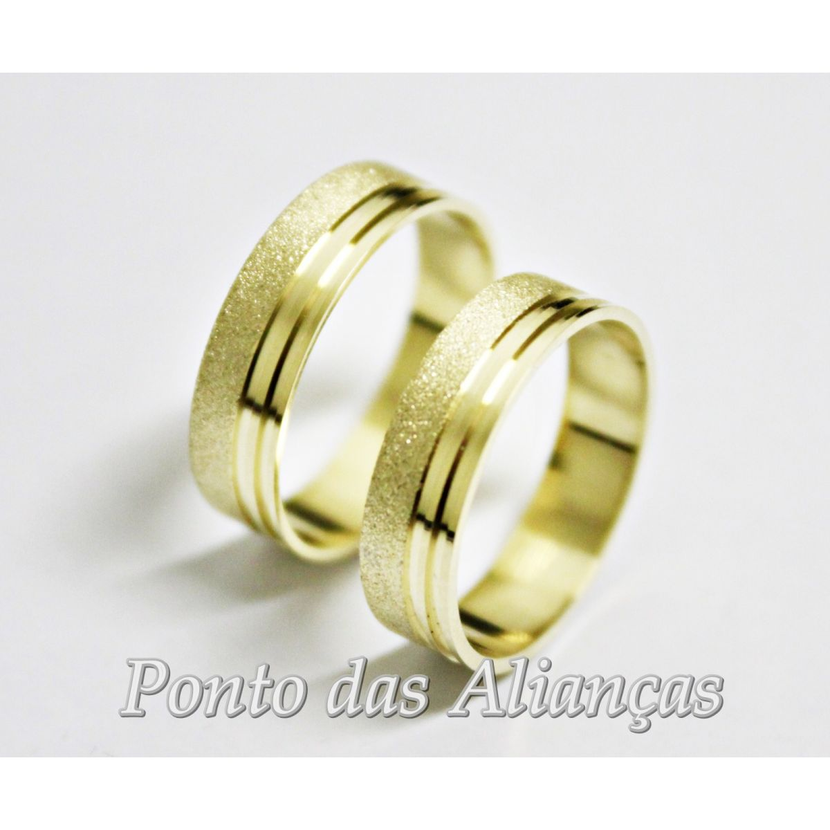 Alianças de Ouro Casamento ou Noivado  - 550