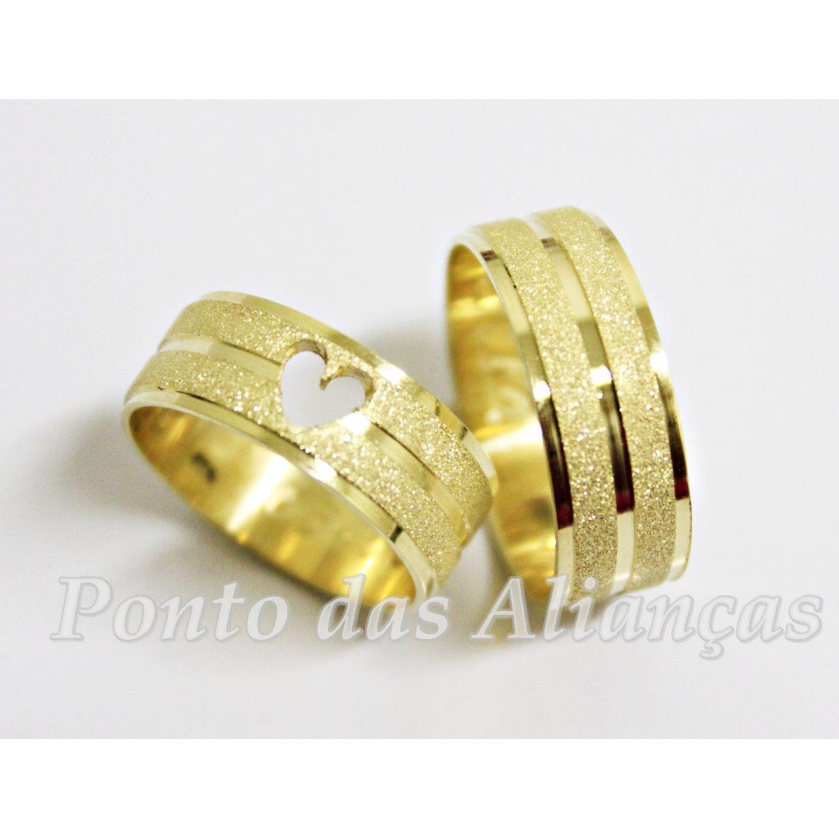 Alianças de Ouro Casamento ou Noivado - 553