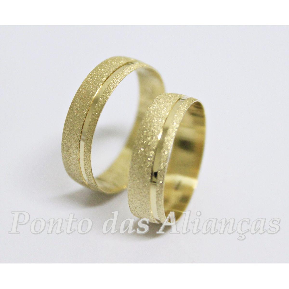 Alianças de Ouro Casamento ou Noivado  - 555