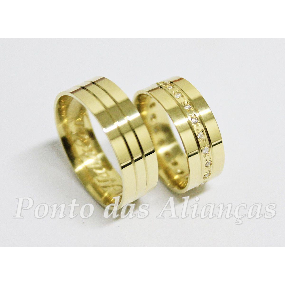 Alianças de Ouro Casamento ou Noivado -  562