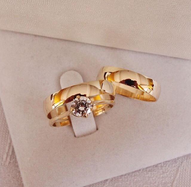 Alianças de Ouro Casamento ou Noivado - 742