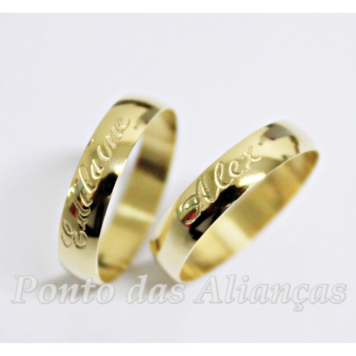 Alianças de Ouro Casamento ou Noivado - 742F