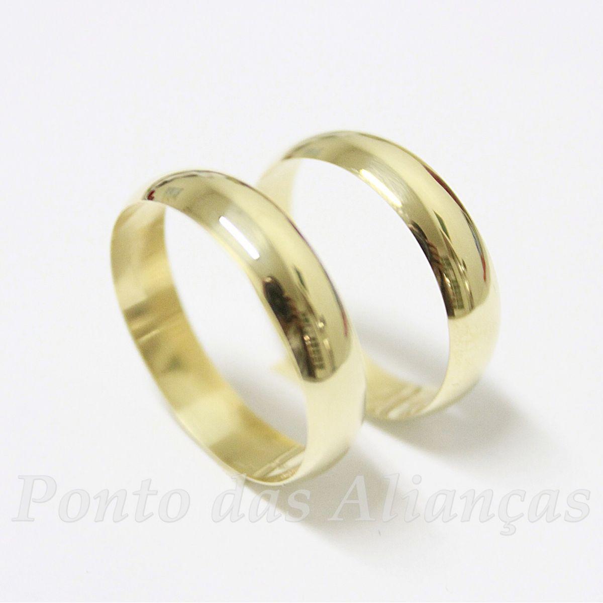 Alianças de Ouro Casamento ou Noivado - 822N