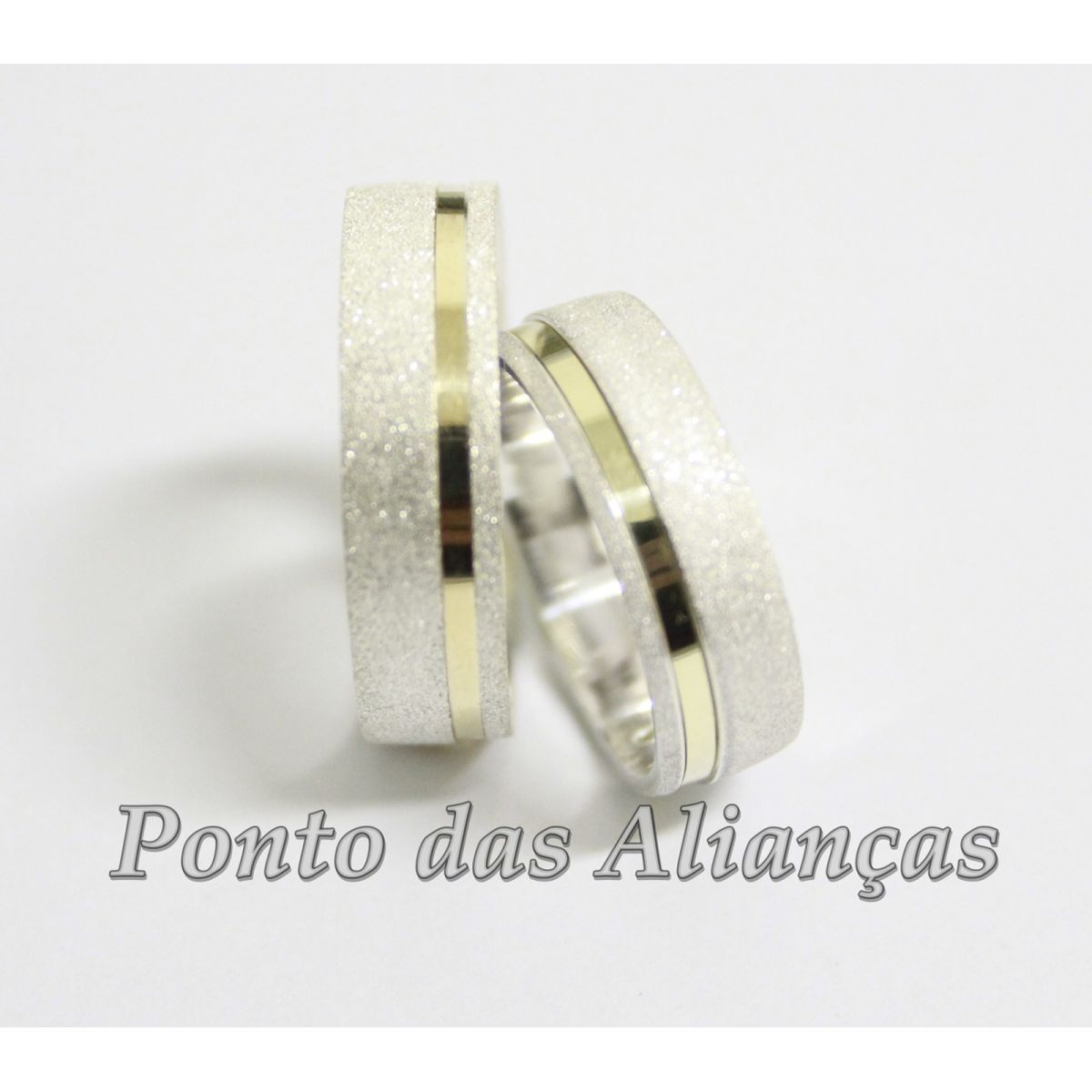 98bcc1c39 ... Alianças de Ouro e Prata Casamento ou Noivado - 545 - Ponto das Alianças  ...