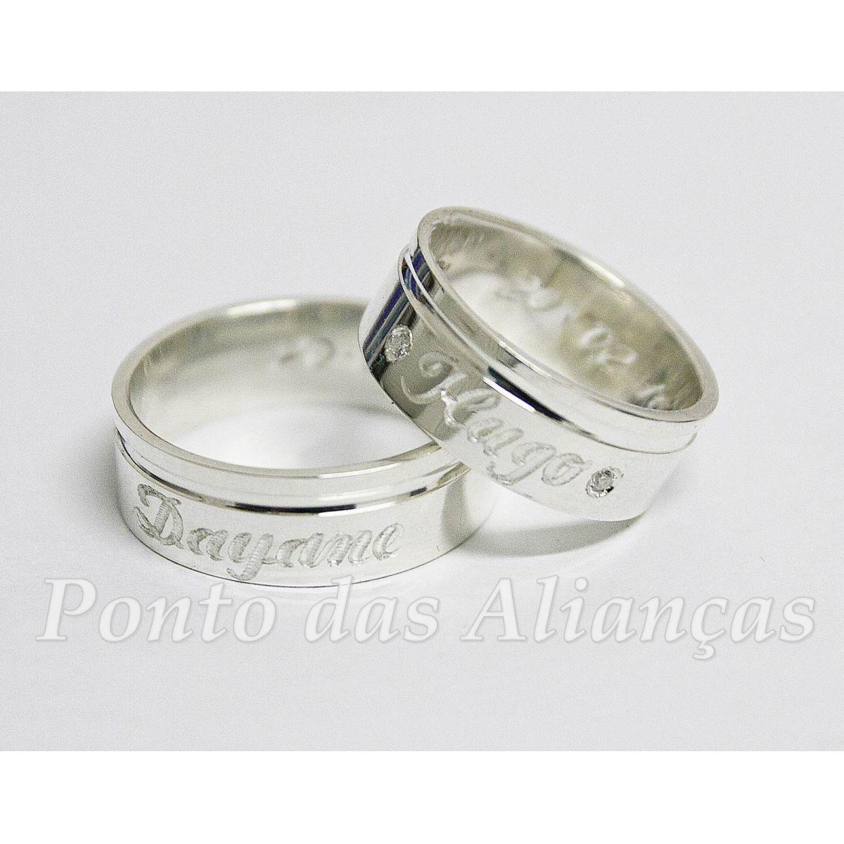 Alianças de Prata Compromisso - 1005