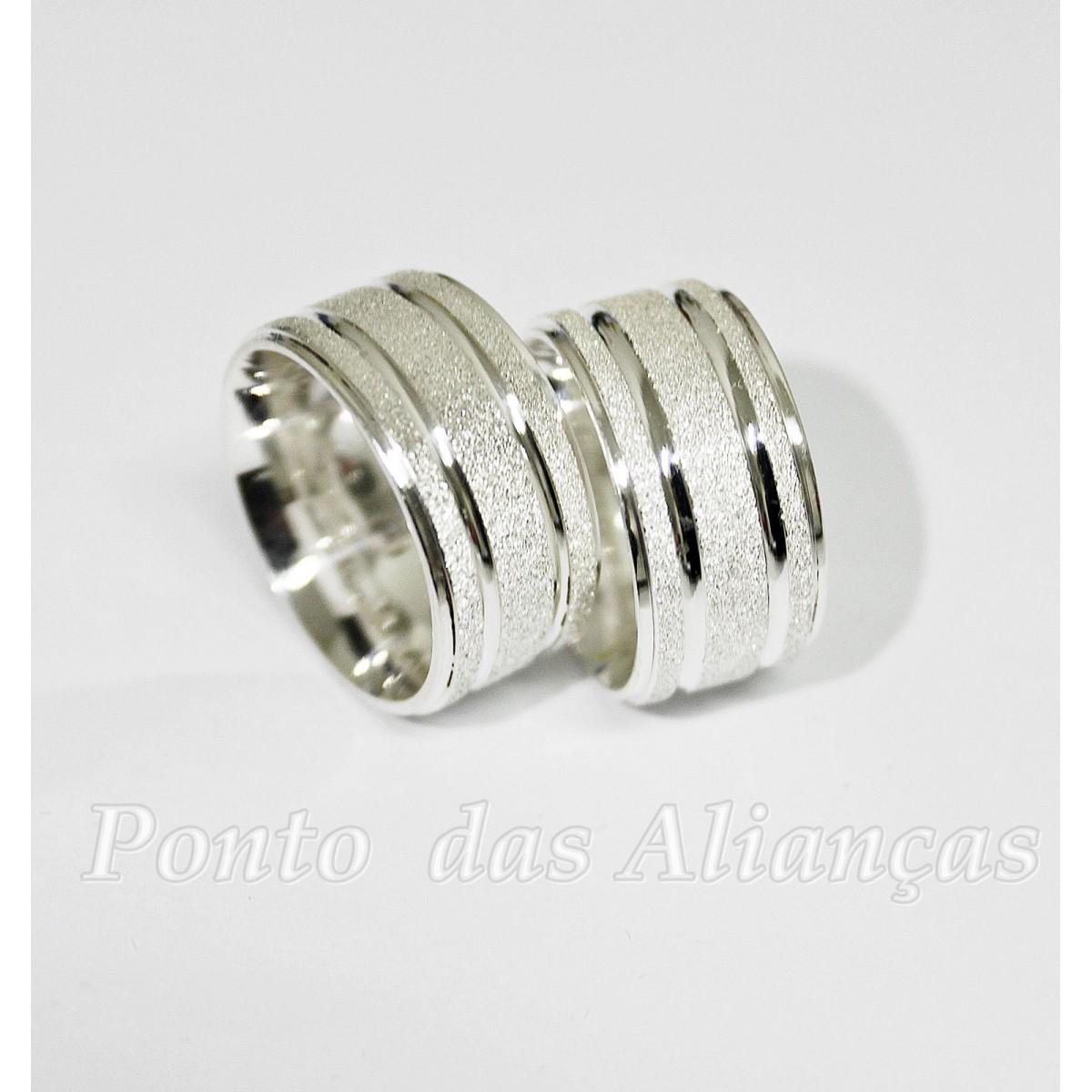 Alianças de Prata Compromisso -  1039