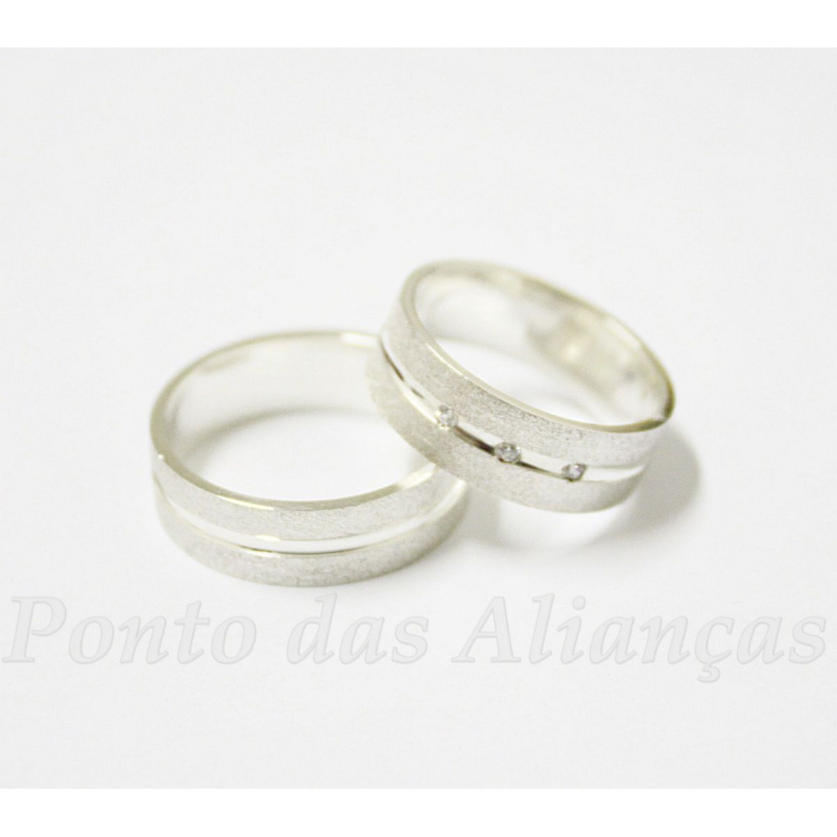 Alianças de Prata Compromisso - 2078P