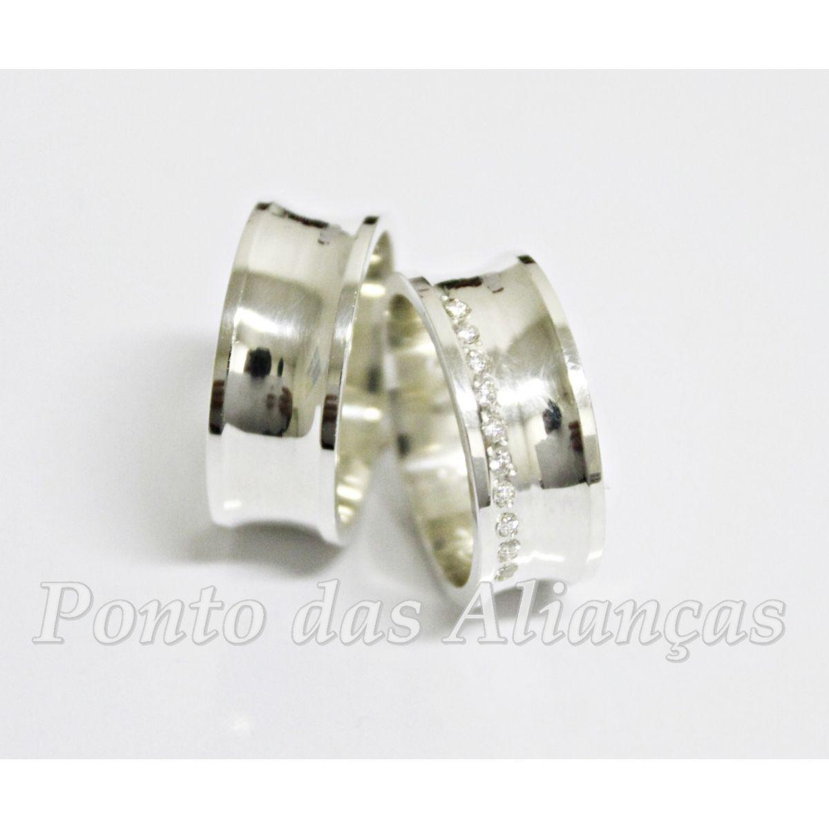 Alianças de Prata Compromisso - 3009