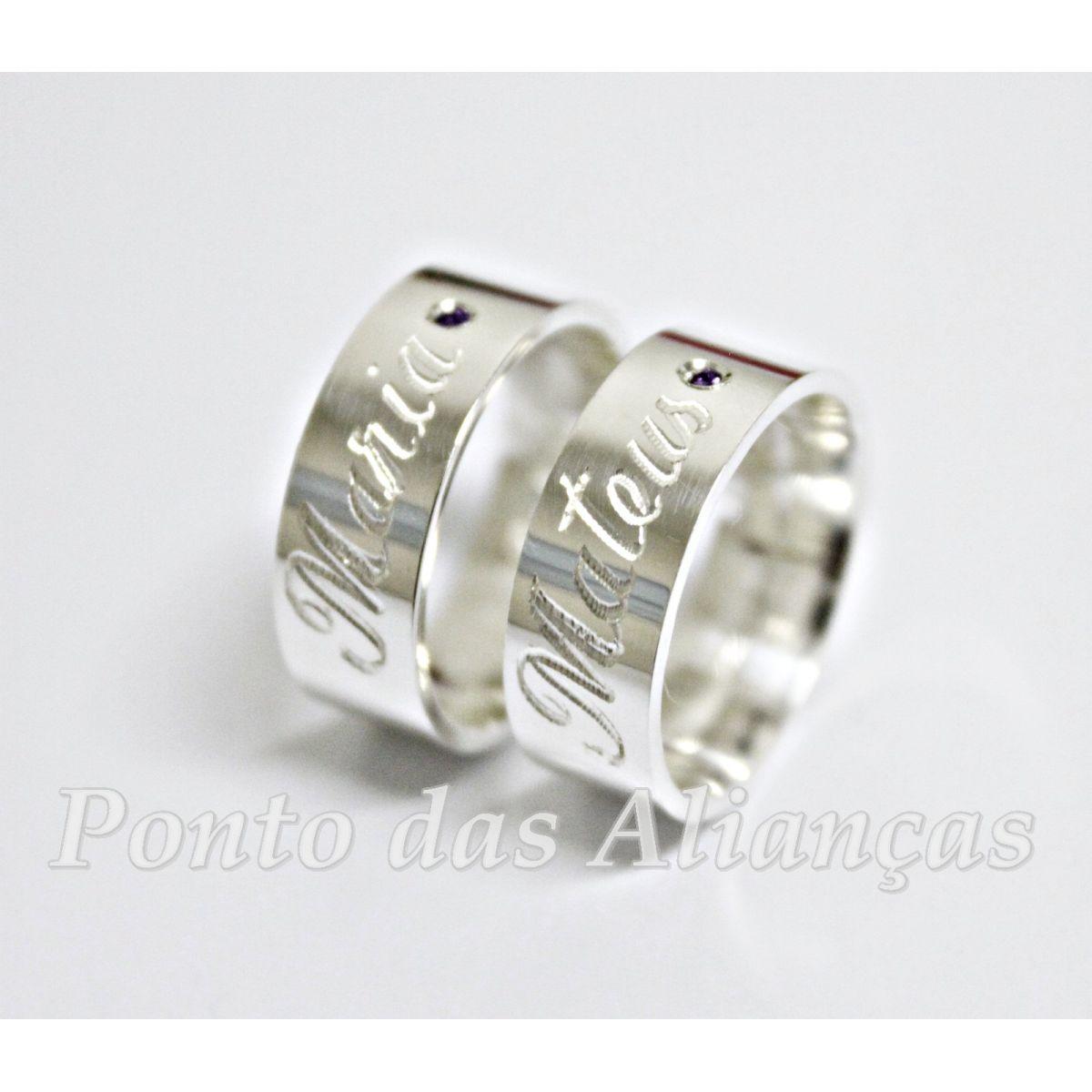 Alianças de Prata Compromisso - 3015