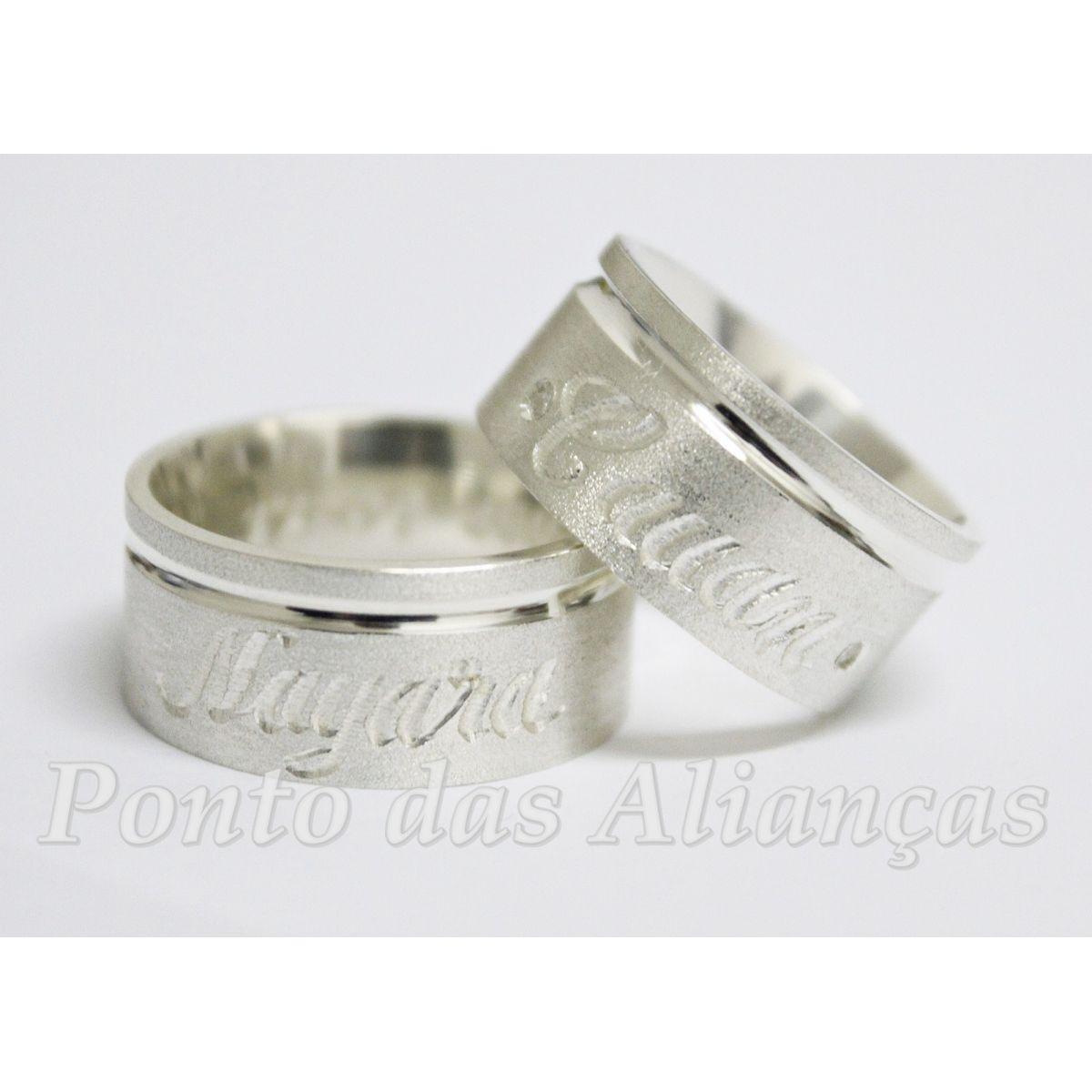 Alianças de Prata Compromisso - 3024