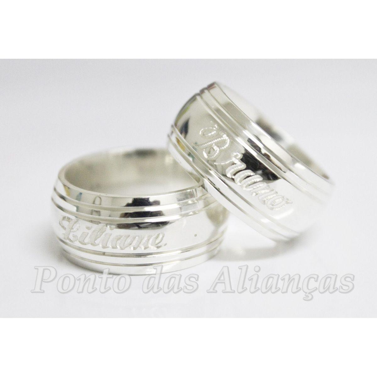 Alianças de Prata Compromisso - 3025