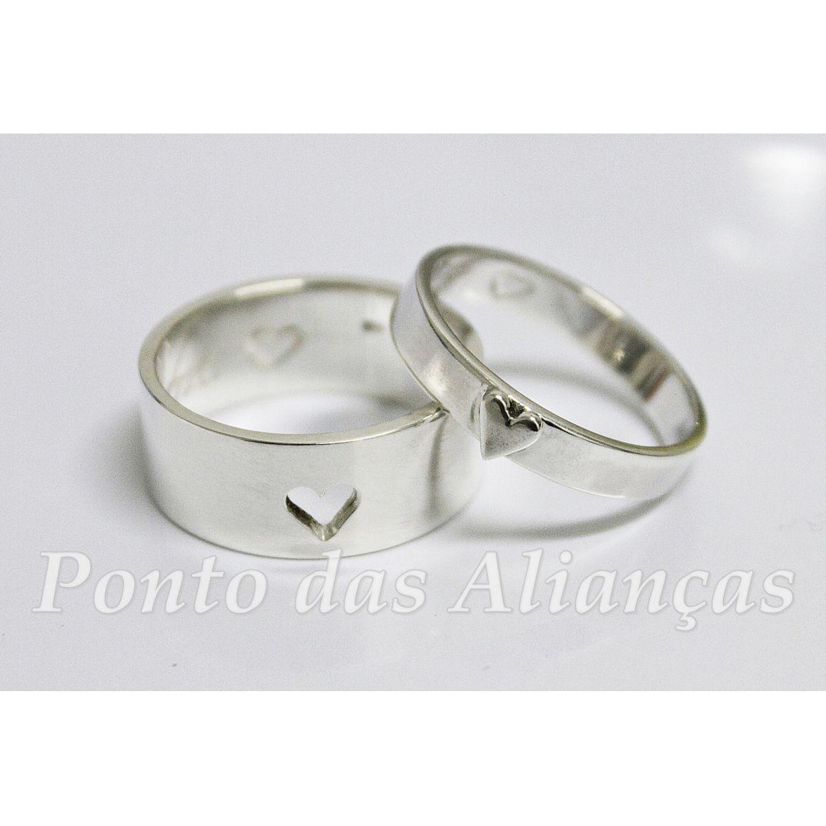 Alianças de Prata Compromisso - 3036