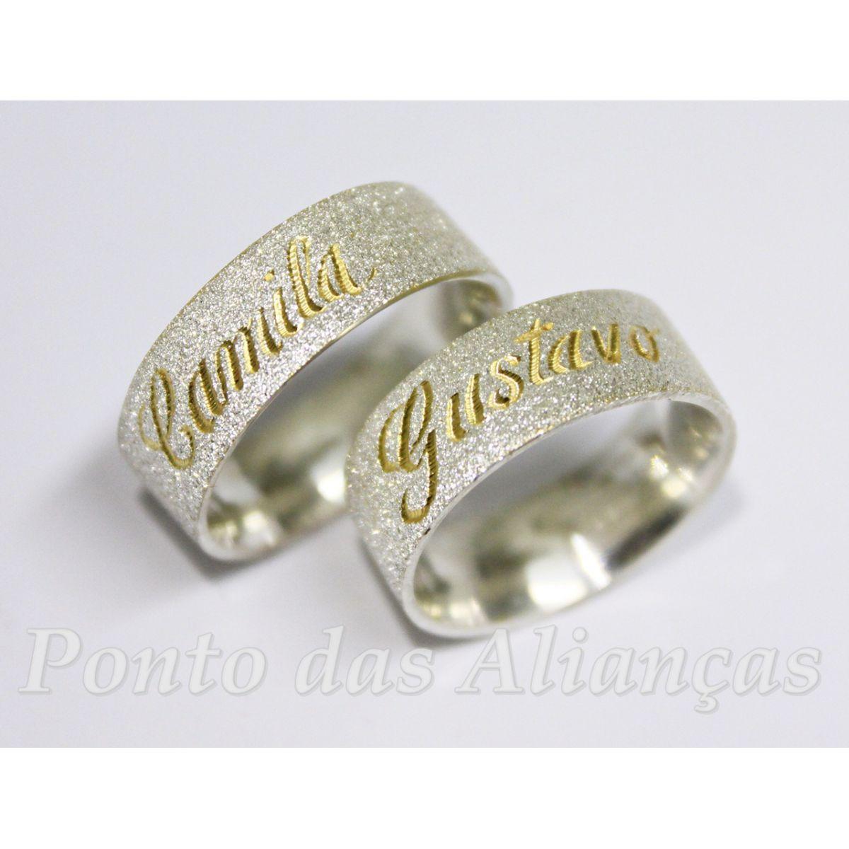 Alianças de Prata compromisso - 3043
