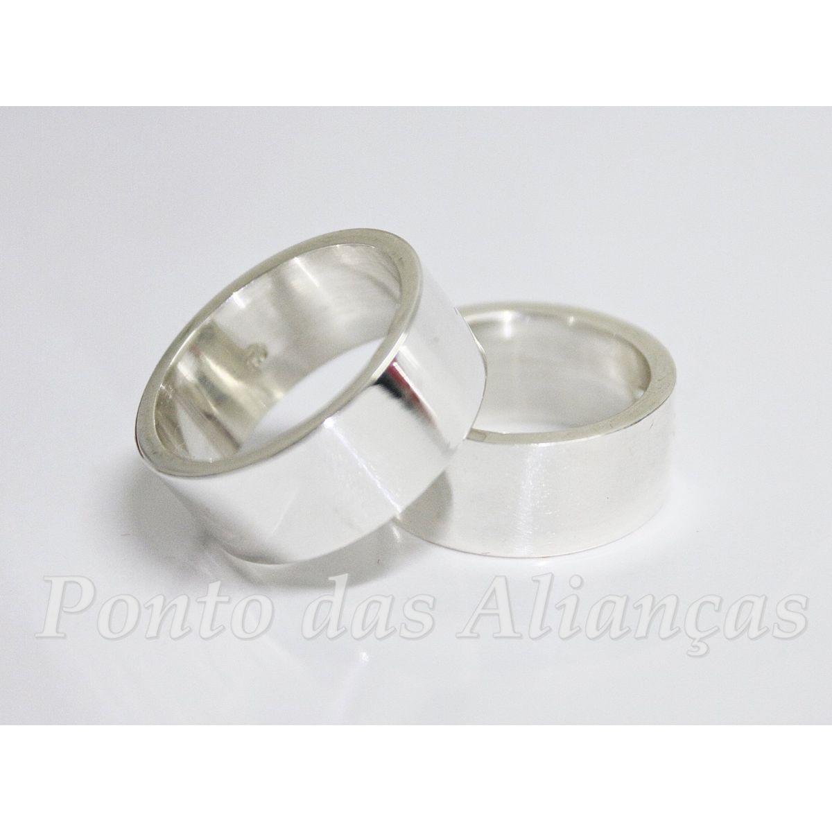 Alianças de Prata Compromisso - 3046