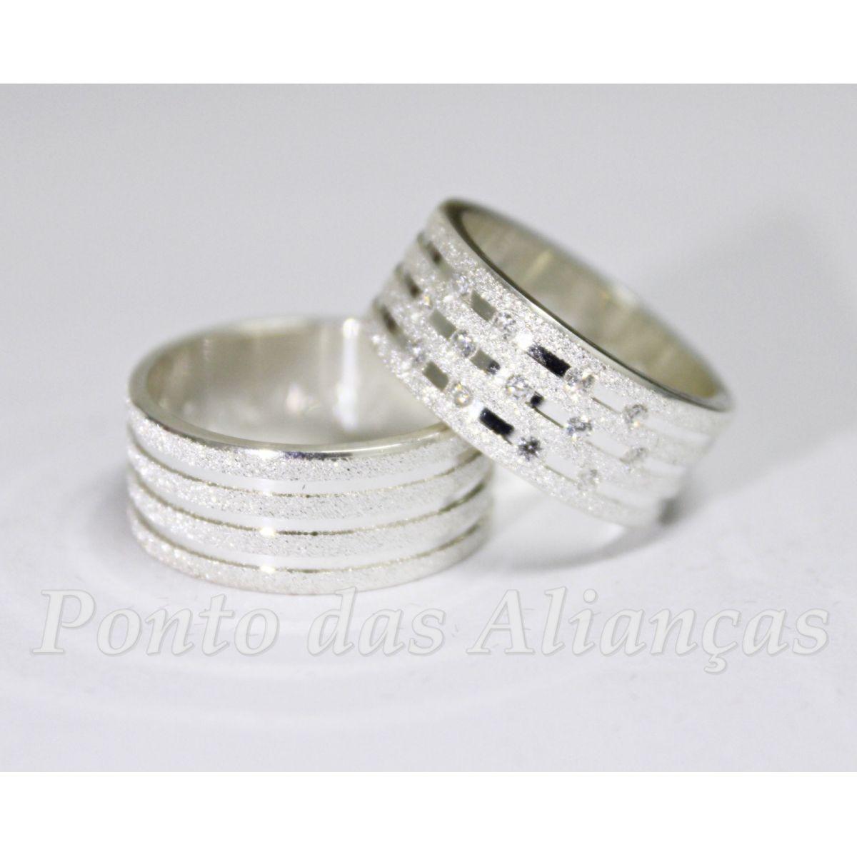 Alianças de Prata Compromisso - 3047
