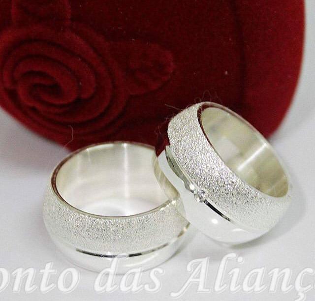 Alianças de Prata Compromisso - 3055