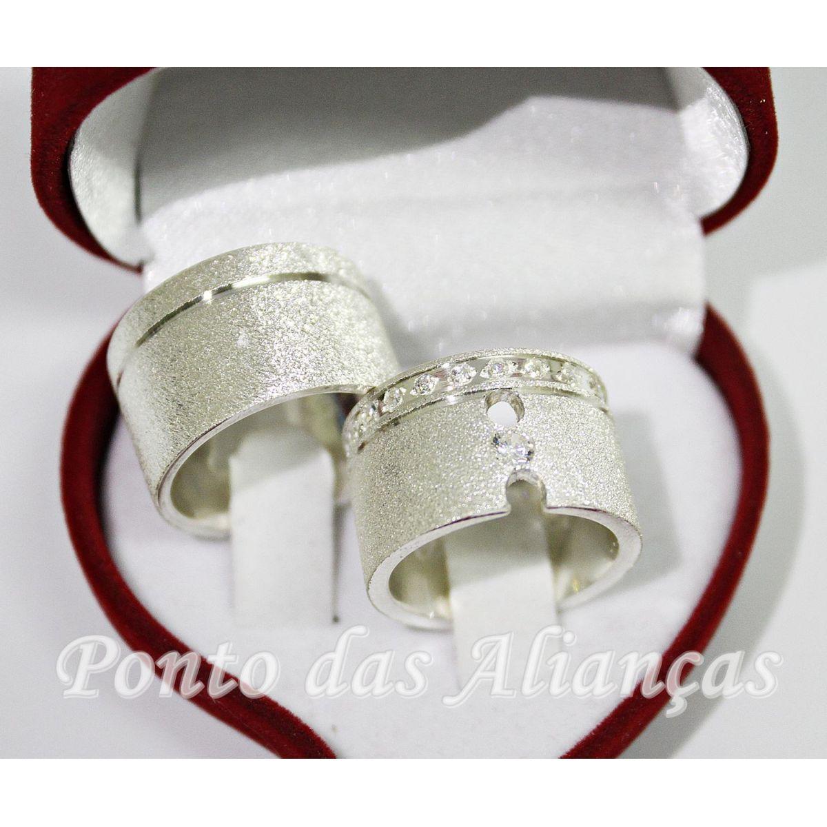 Alianças de Prata Compromisso -  3067