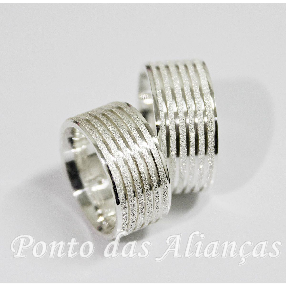Alianças de Prata Compromisso - 3069