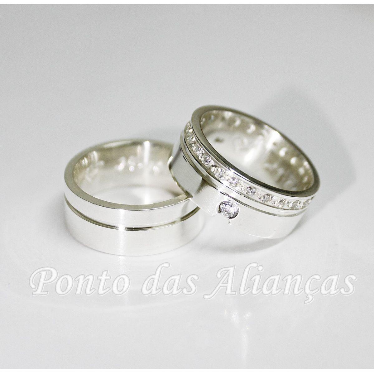 Alianças de Prata Compromisso - 3070