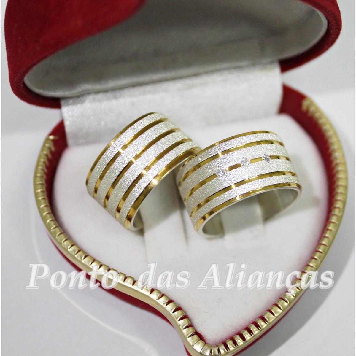 Alianças de Prata Compromisso - 3086