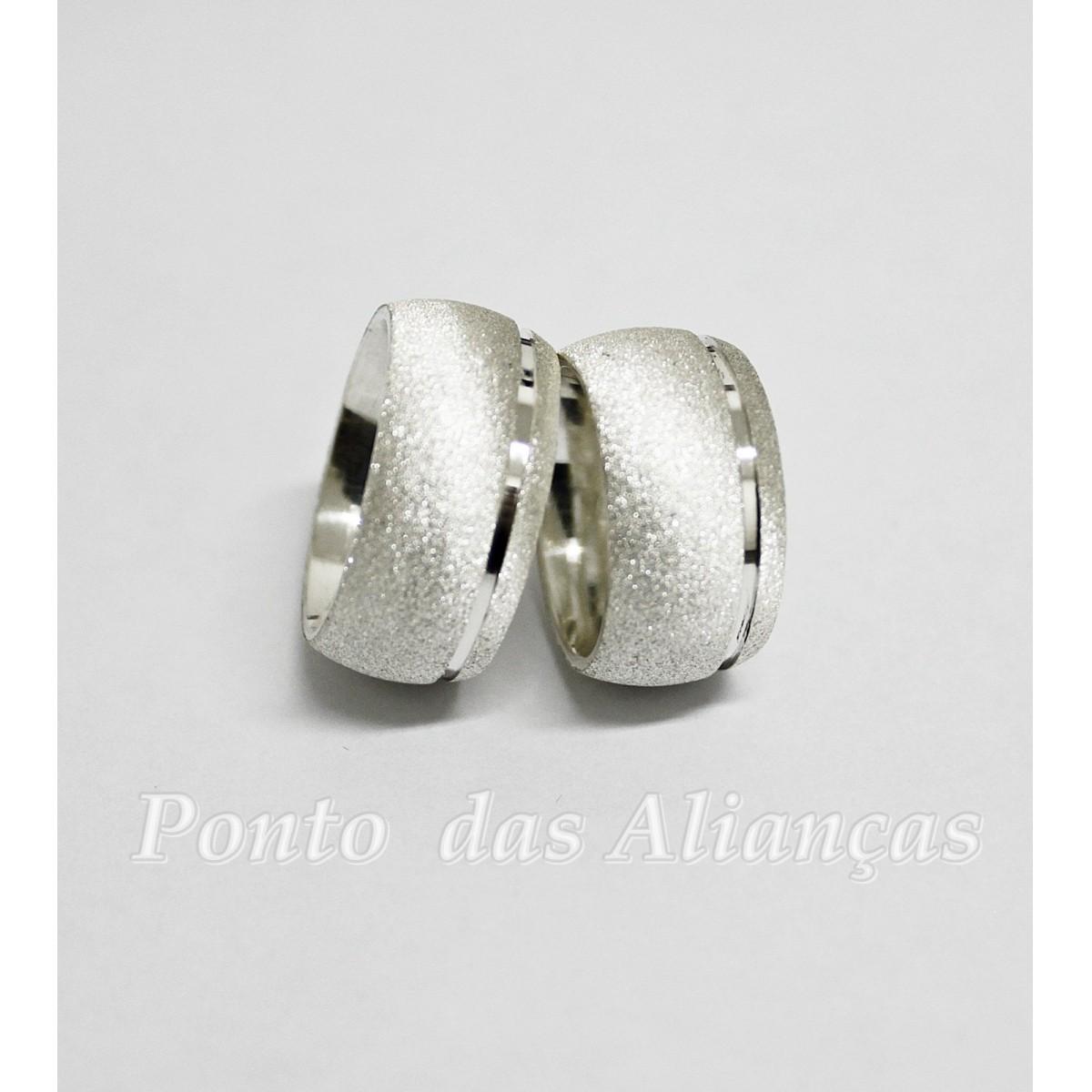 Alianças de Prata Compromisso - 3092