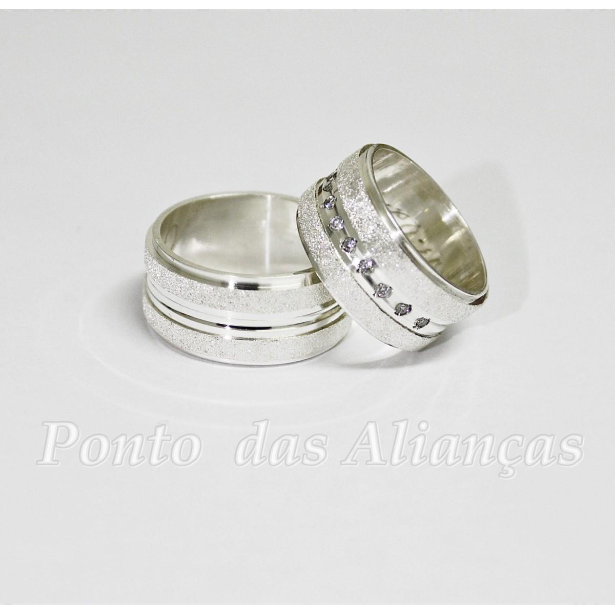 Alianças de Prata Compromisso - 3095