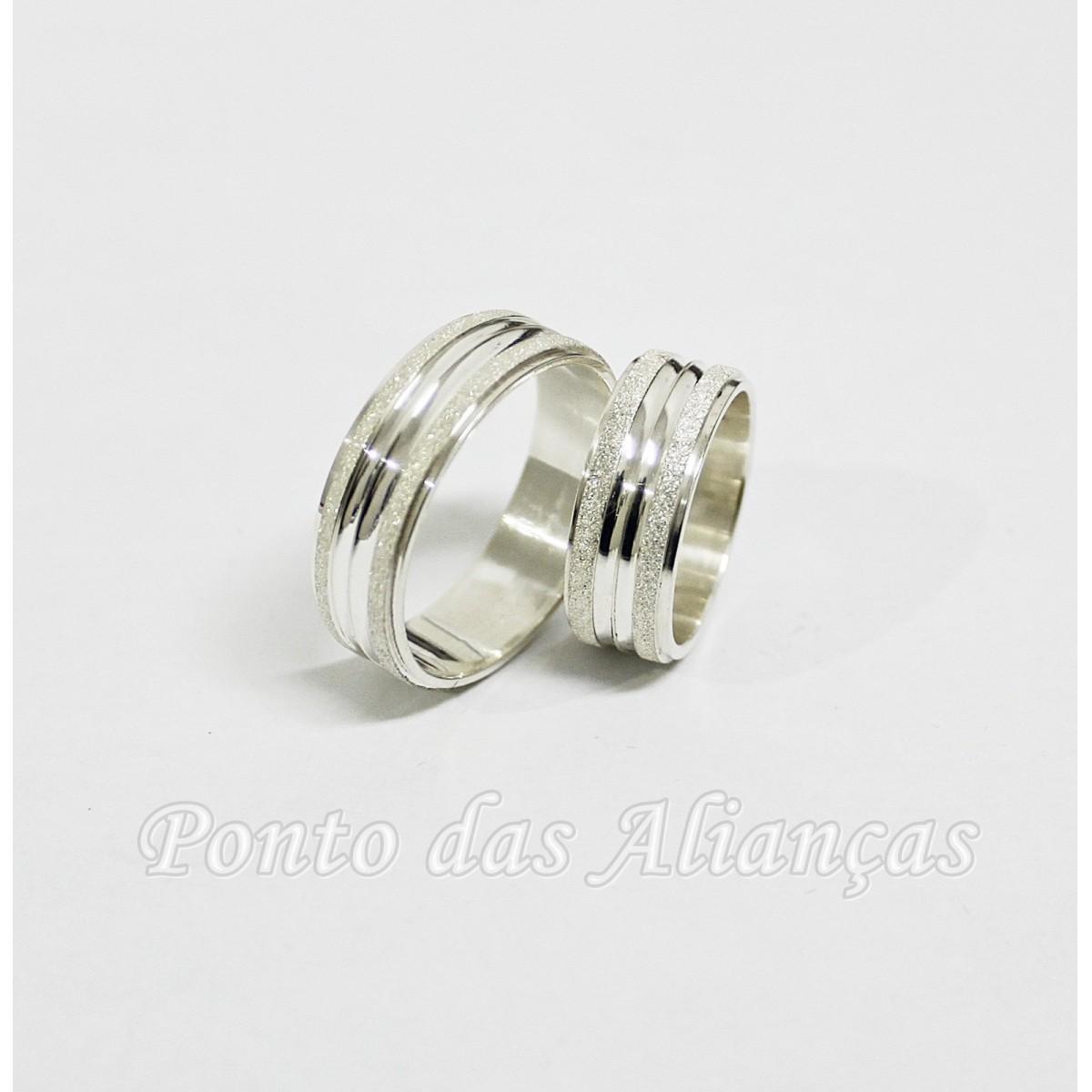 Alianças de Prata Compromisso - 3099