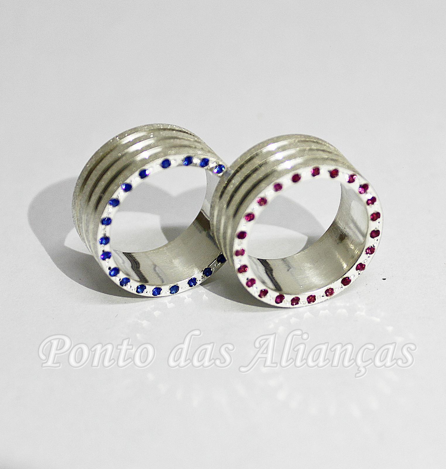 Alianças de Prata Compromisso - 3106