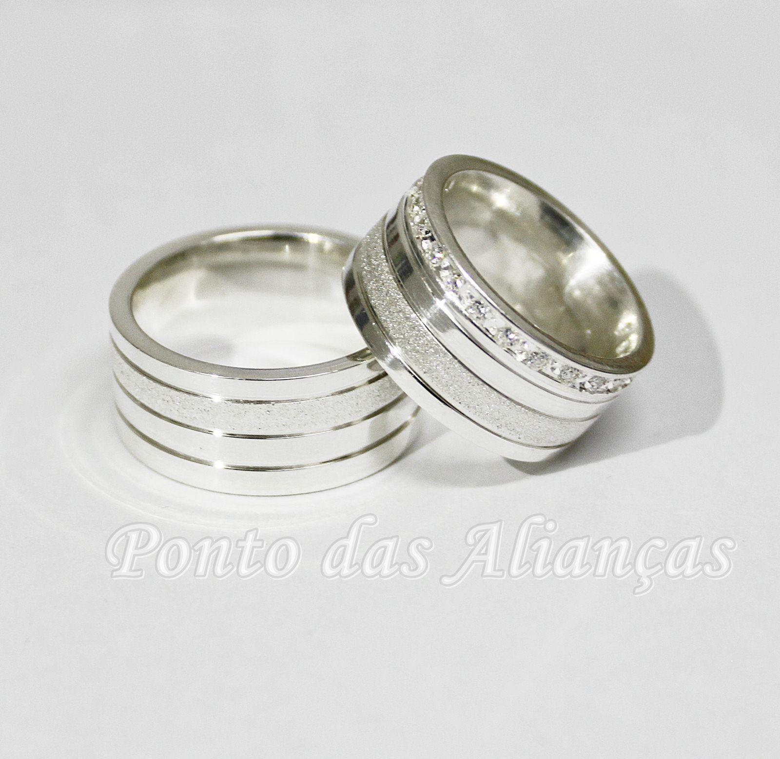 Alianças de Prata Compromisso - 3107