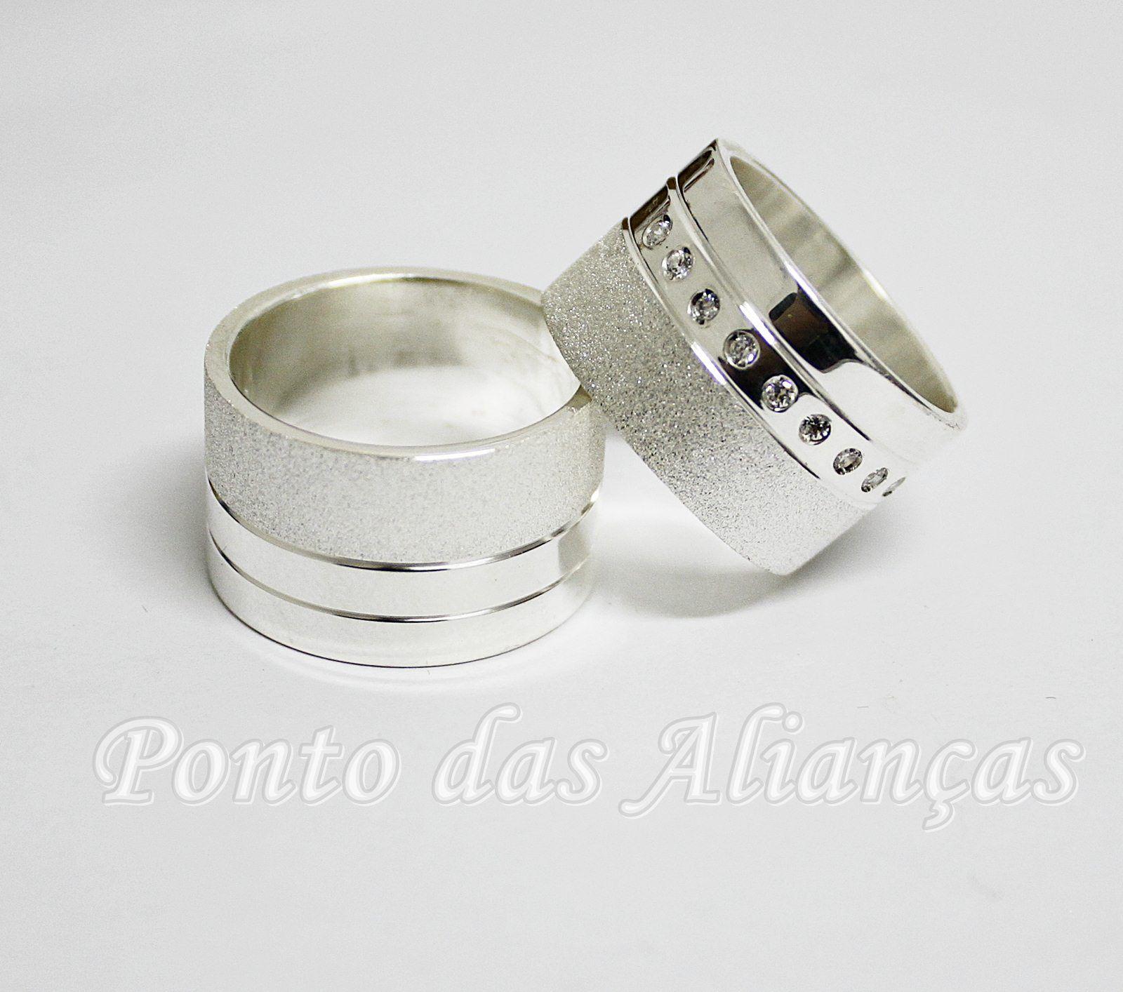 Alianças de Prata Compromisso - 3111