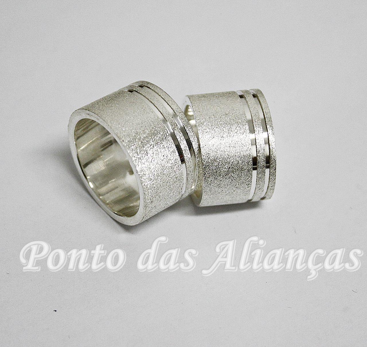 Alianças de Prata Compromisso - 3113