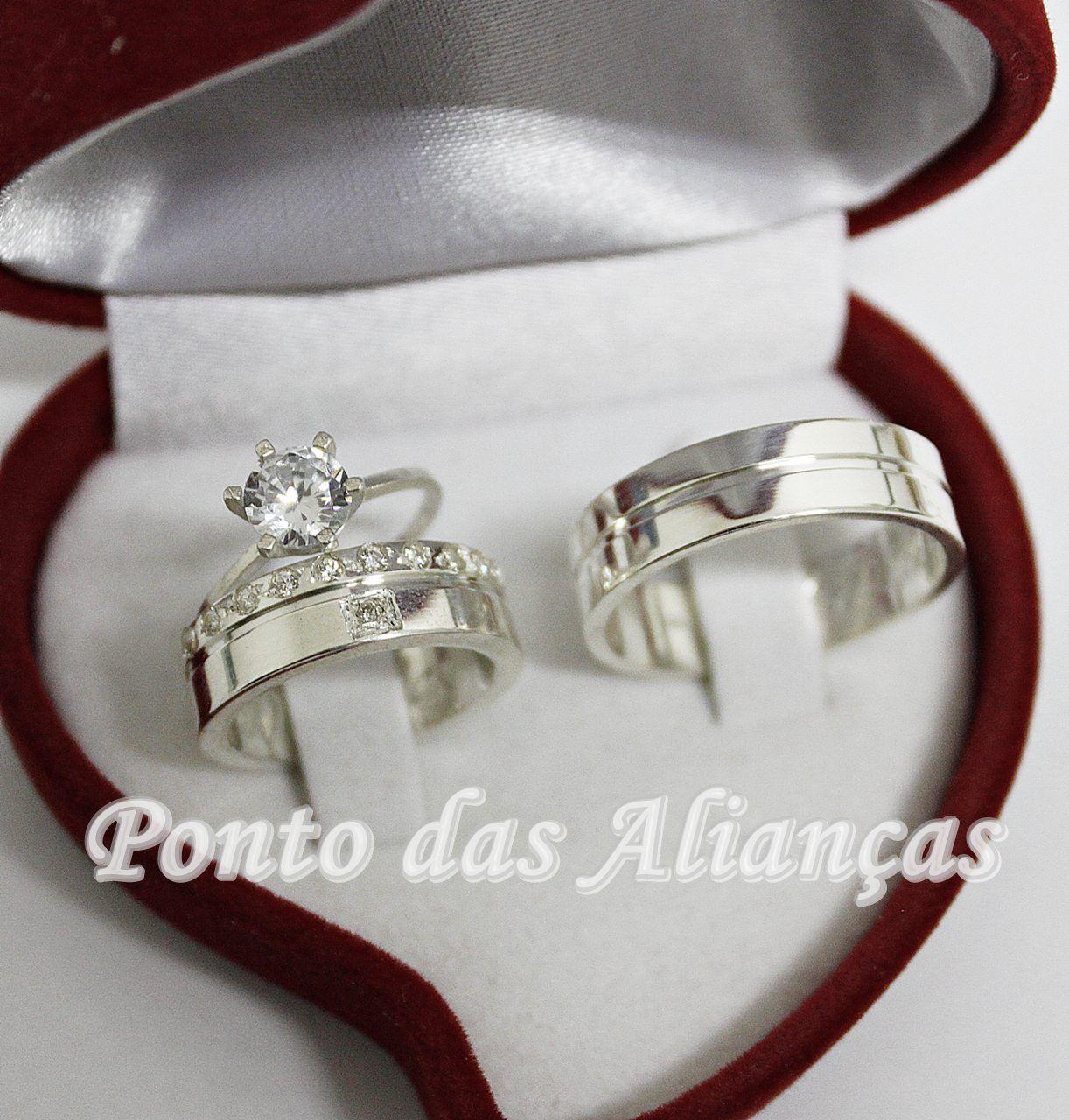 Alianças de Prata Compromisso - 3116