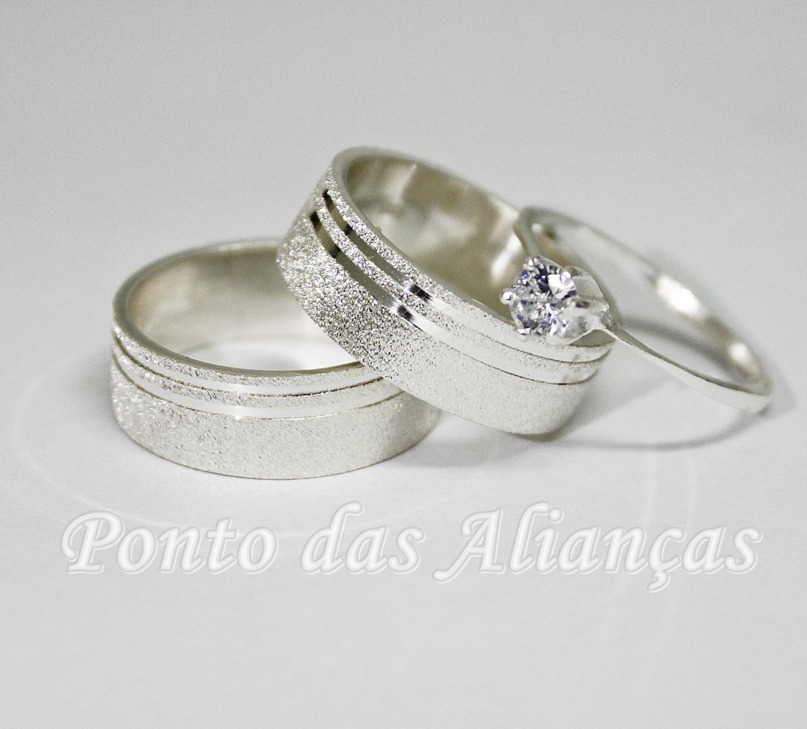 Alianças de Prata Compromisso - 3117