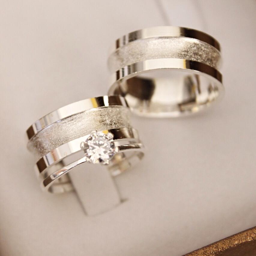 Alianças de Prata  Compromisso - 3140