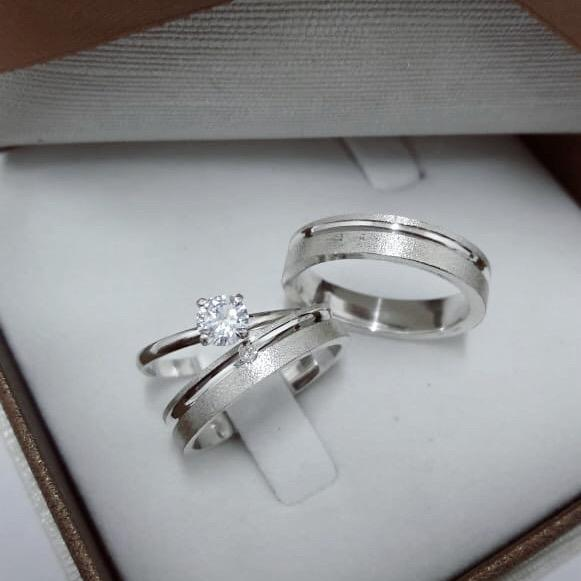 Alianças de Prata  Compromisso - 3146