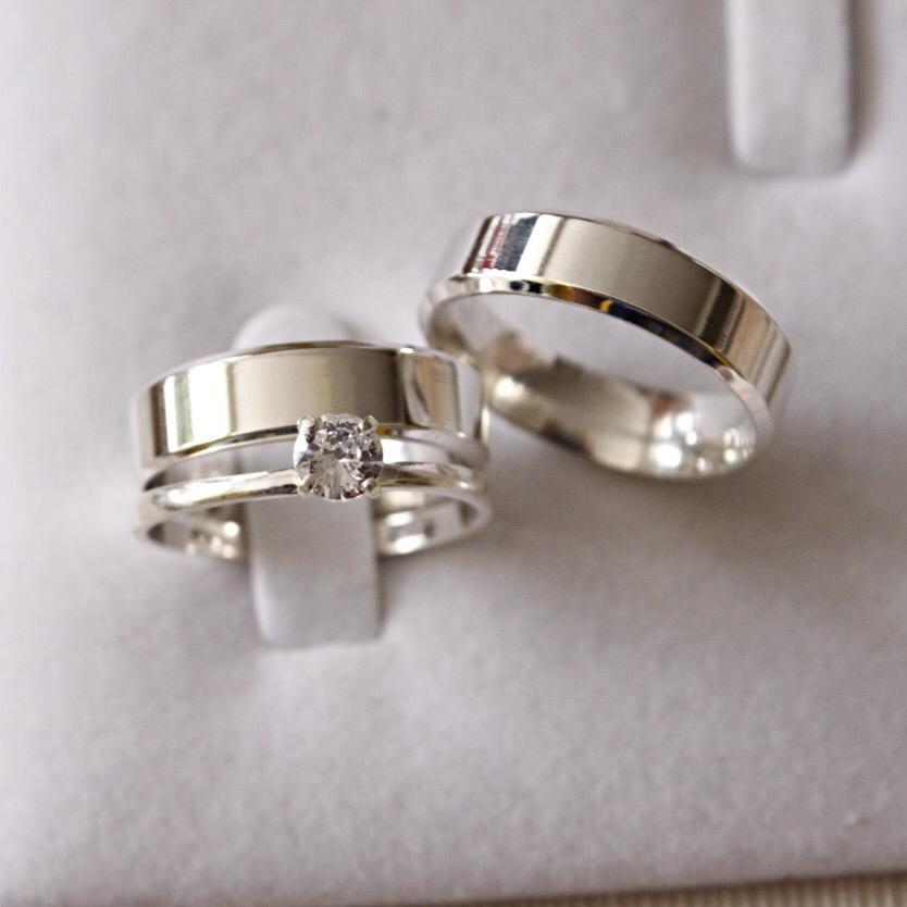Alianças de Prata  Compromisso - 3160