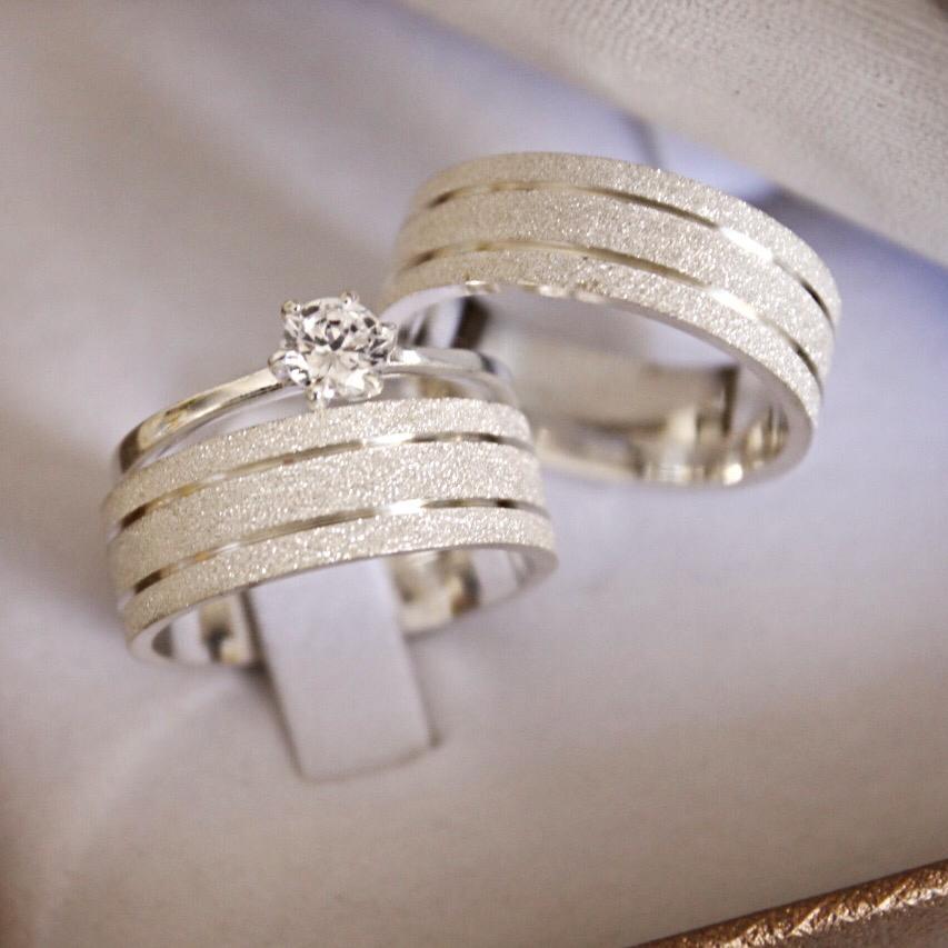 Alianças de Prata  Compromisso - 3189