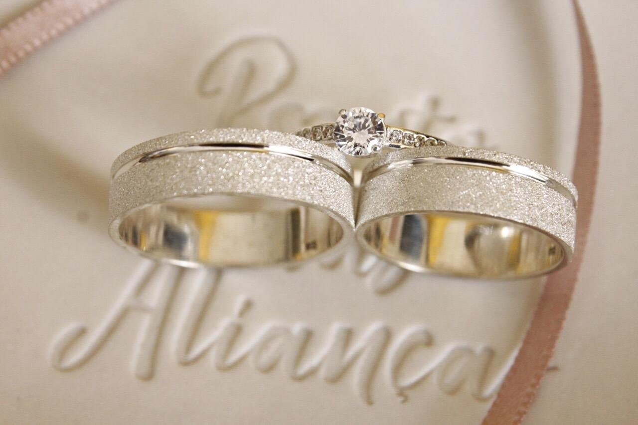 Alianças de Prata Compromisso - 3208