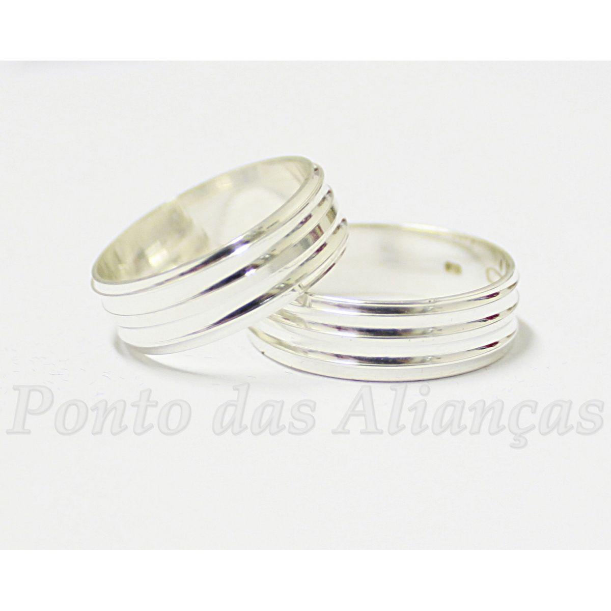Alianças de Prata Compromisso - 903P