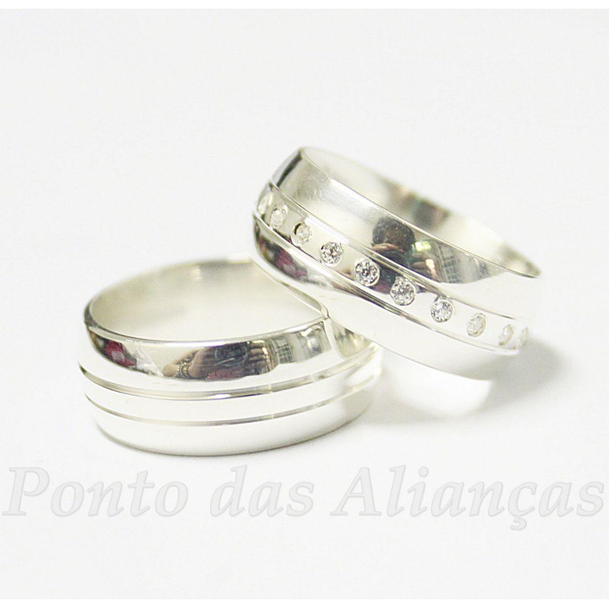 Alianças de Prata Compromisso - 904P