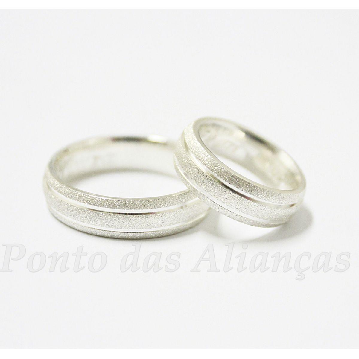 Alianças de Prata Compromisso - 905P
