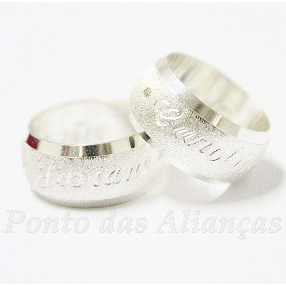 Alianças de Prata Compromisso - 2094P