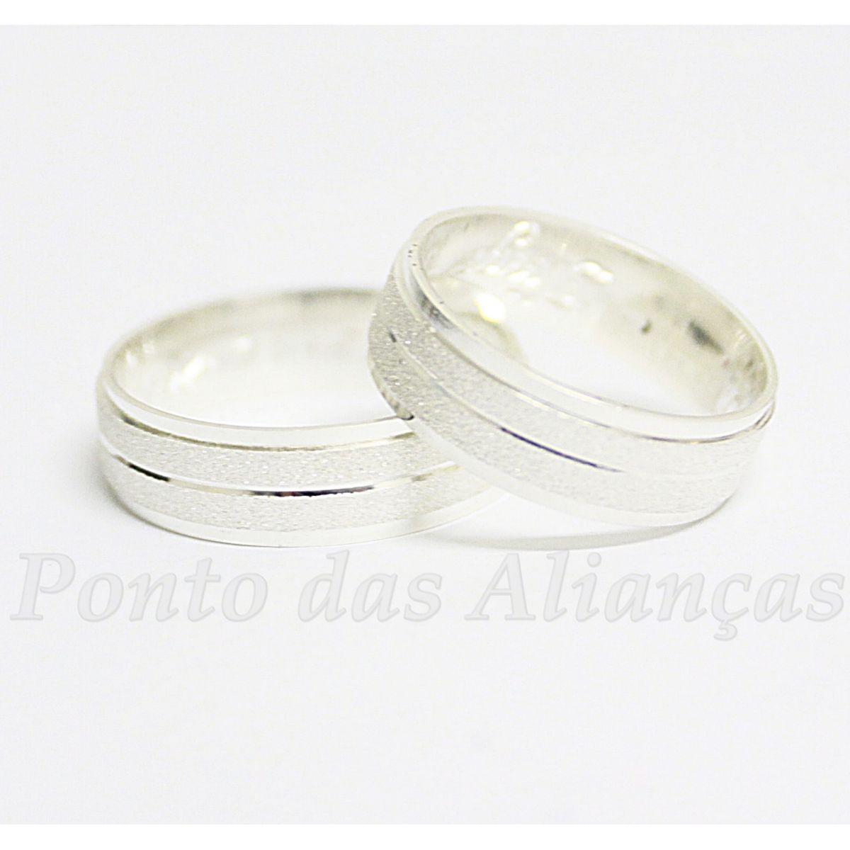 Alianças de Prata Compromisso - 909P