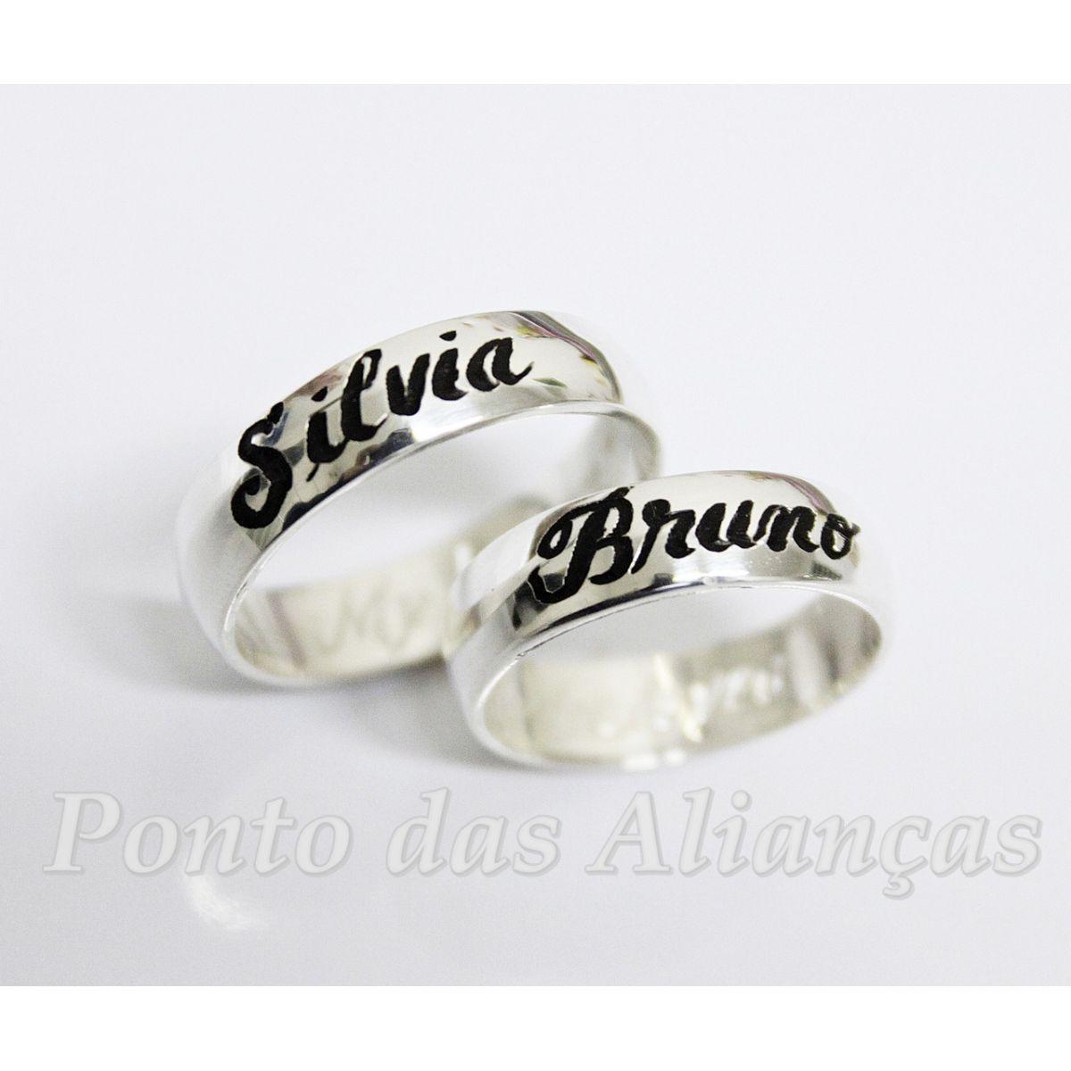 Alianças de Prata Compromisso  - 915