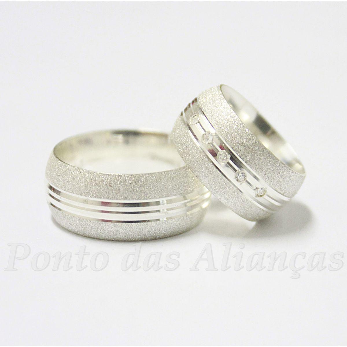 Alianças de Prata Compromisso - 926P