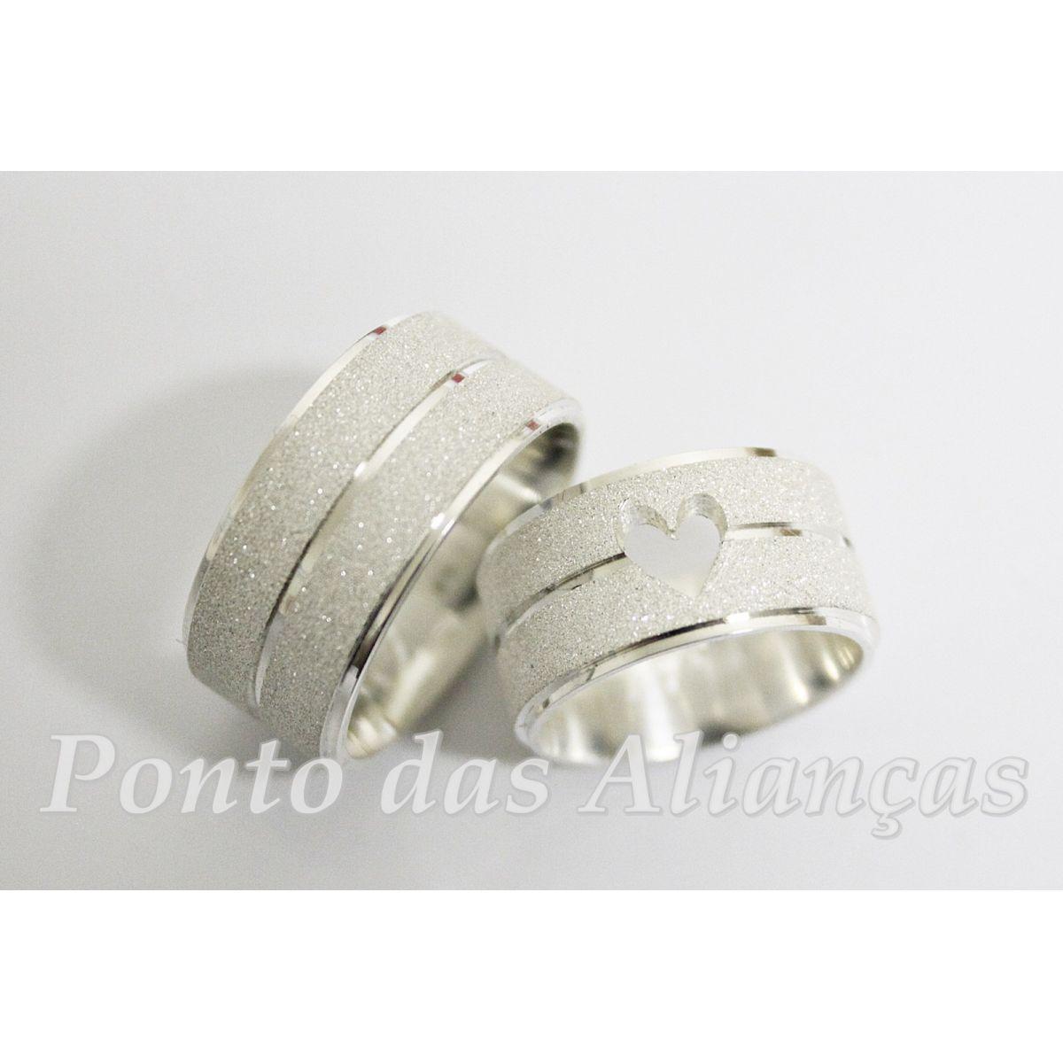 Alianças de Prata Compromisso - 95210