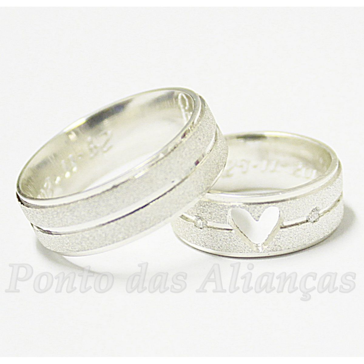 Alianças de Prata Compromisso - 952P